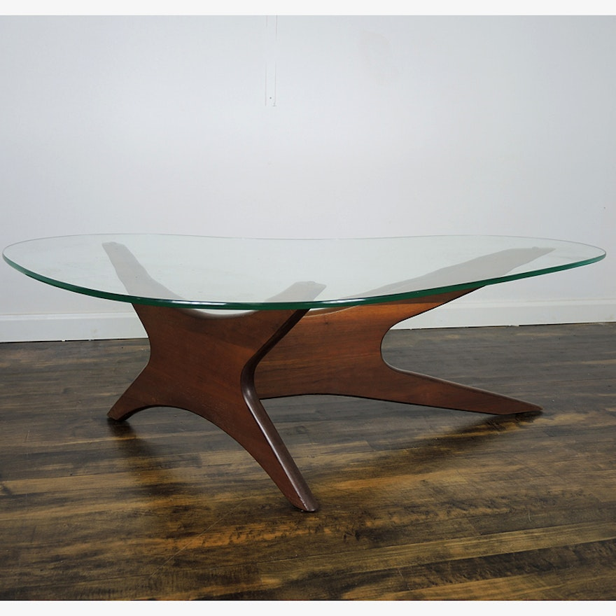 Adrian Pearsall Mid Century Kidney Shaped Coffee Table EBTH - Mid century modern kidney shaped coffee table
