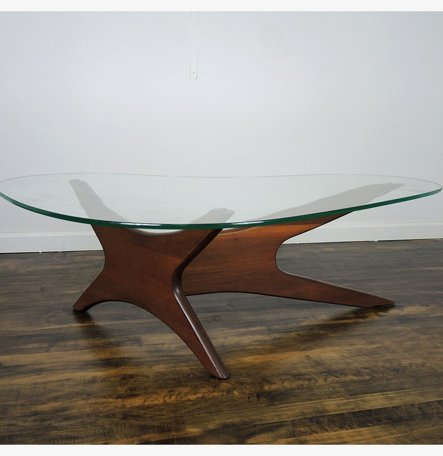 Lane Pearsall Style Mid Century Modern Coffee Table: Adrian Pearsall Mid Century Kidney Shaped Coffee Table : EBTH