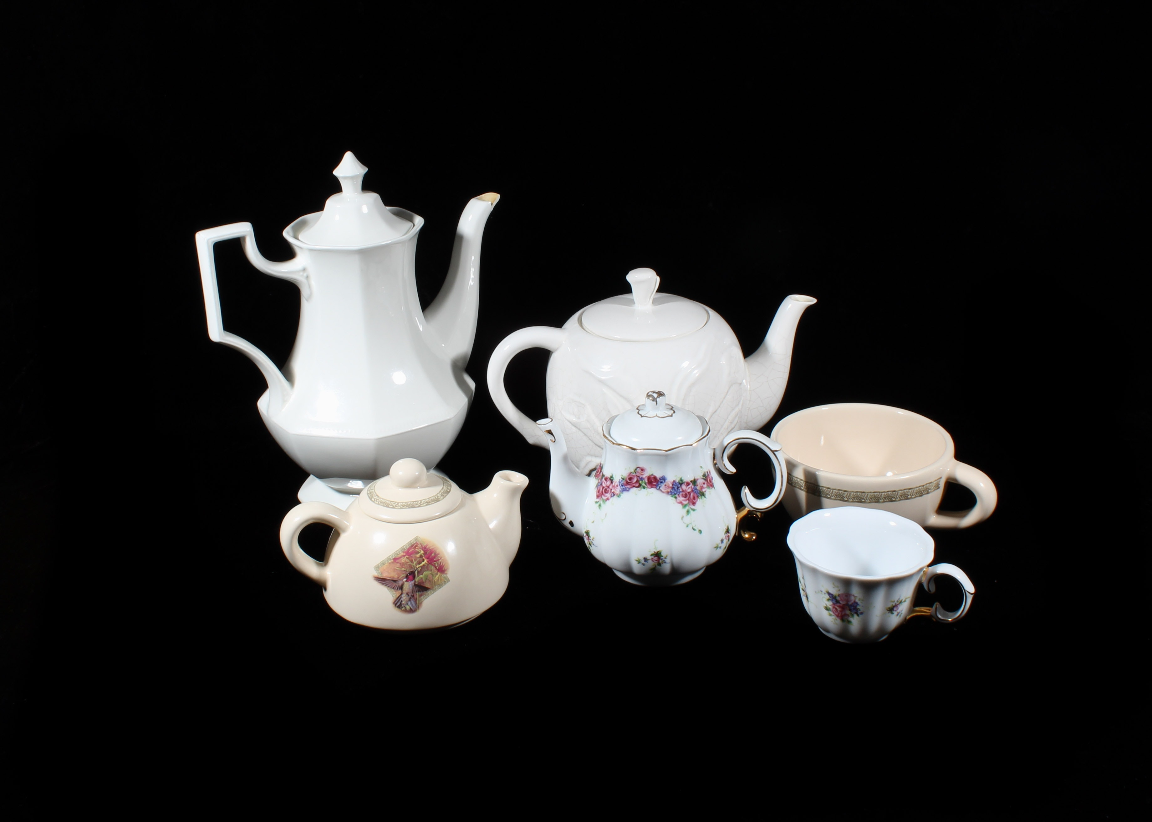Collection of Ceramic Teapots