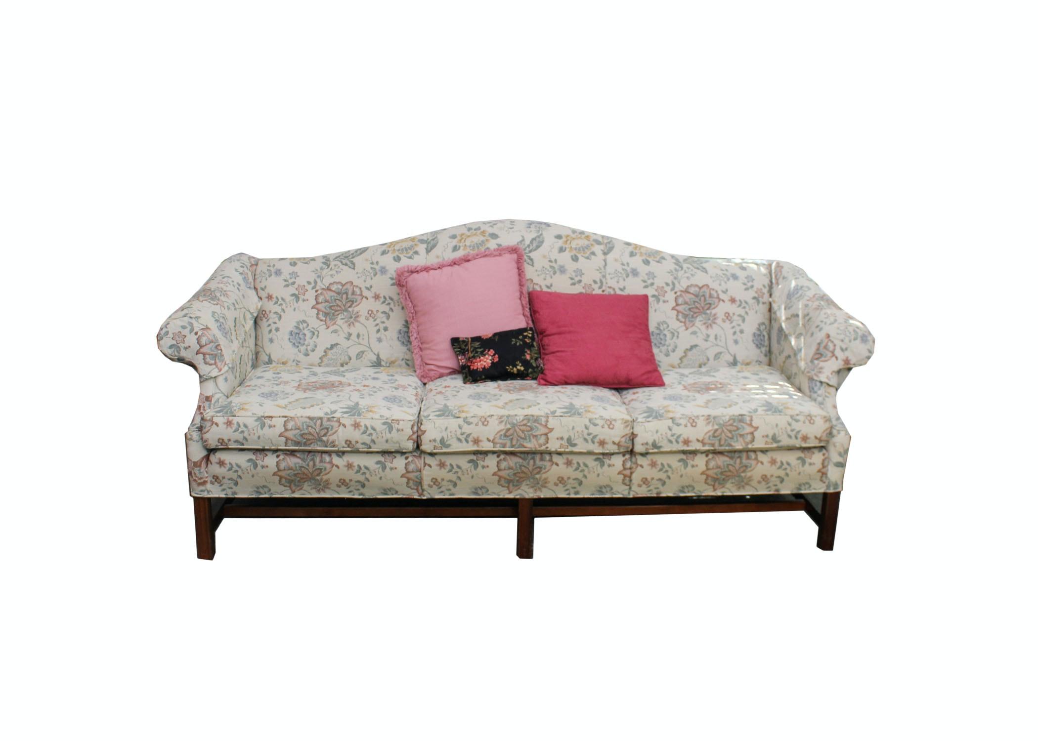 Camel Back Floral Sofa