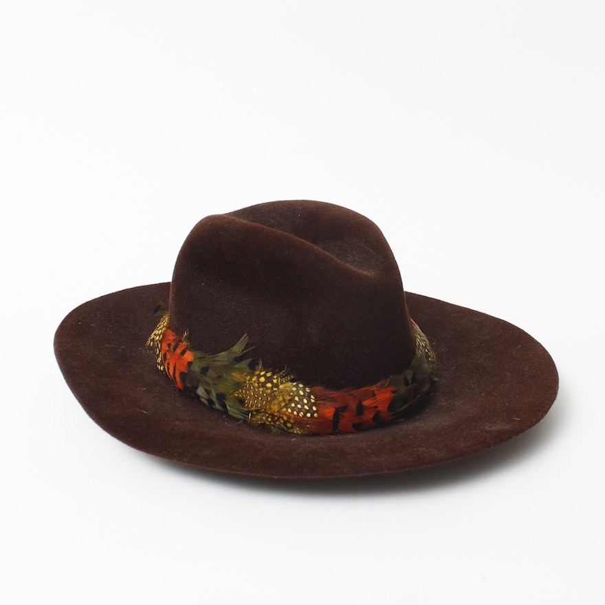 Vintage Wool and Feather Betmar Hat   EBTH 0f2b8755984