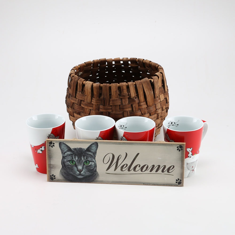 Collection of Cat Themed Decor