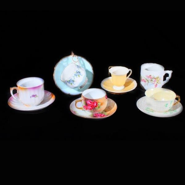 Collection of Tea Cups and Saucers Including Belleek