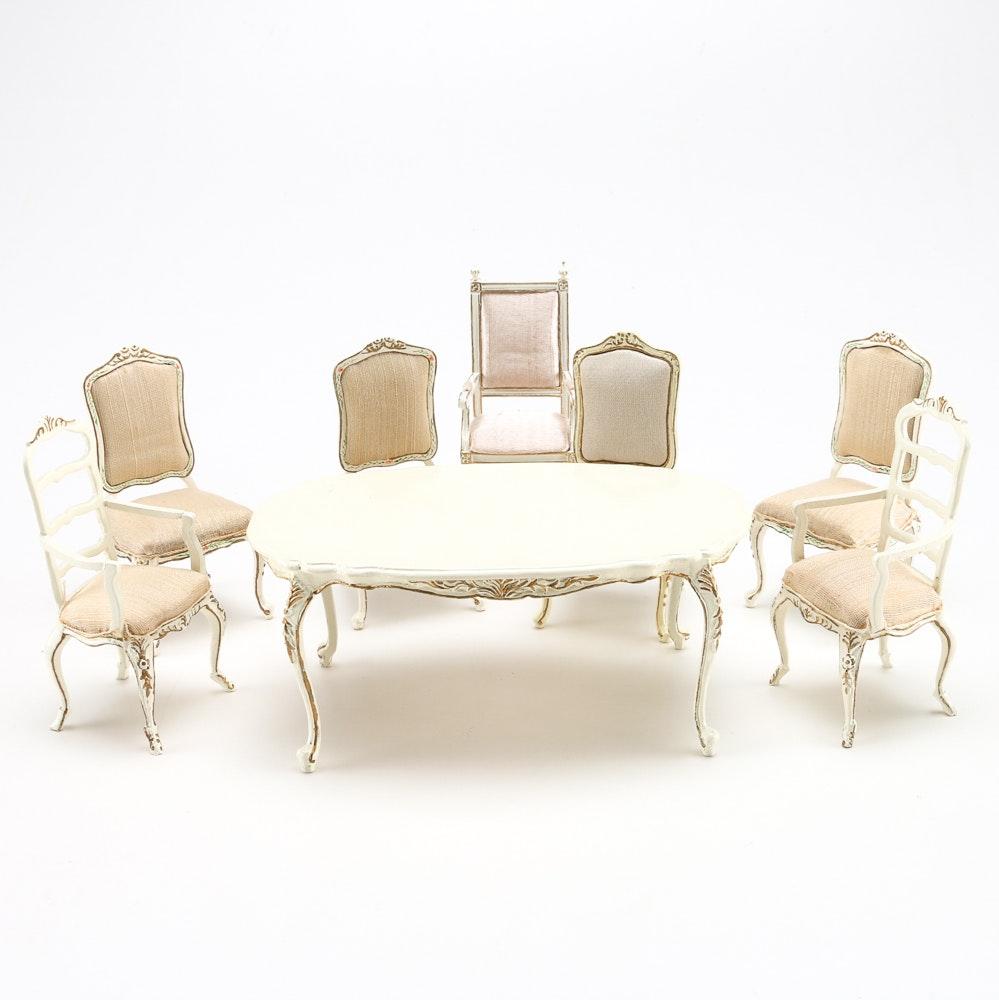 Bespaq Dollhouse Dining Room Table And Chairs Ebth