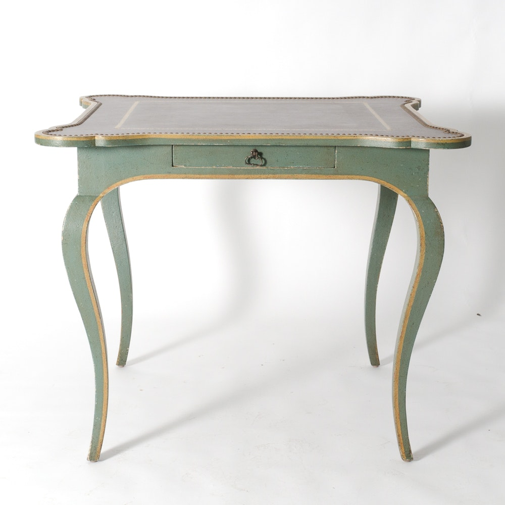 French Provincial Style Painted Game Table