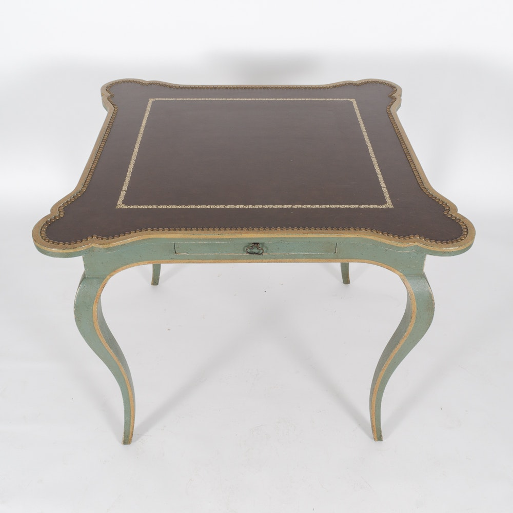 French provincial style painted game table ebth for 12 in 1 game table groupon