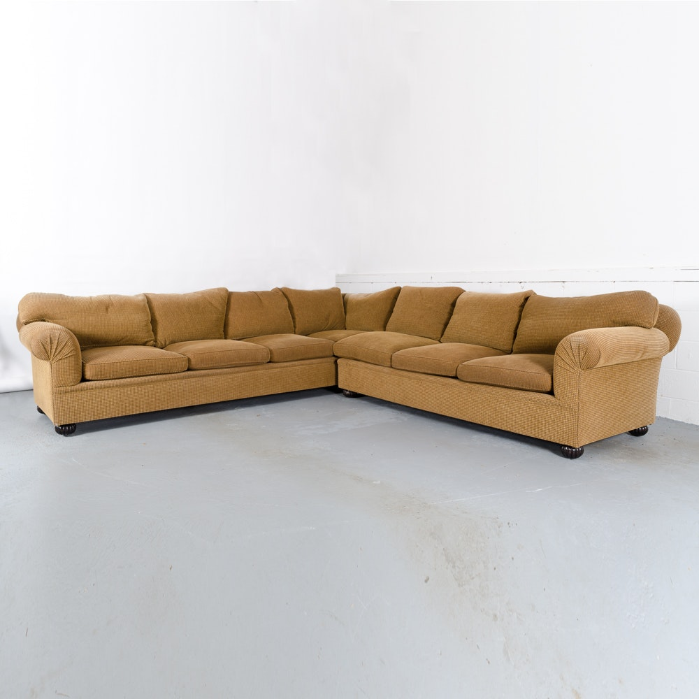 Brown Chenille Sectional Sofa by Furniture Masters