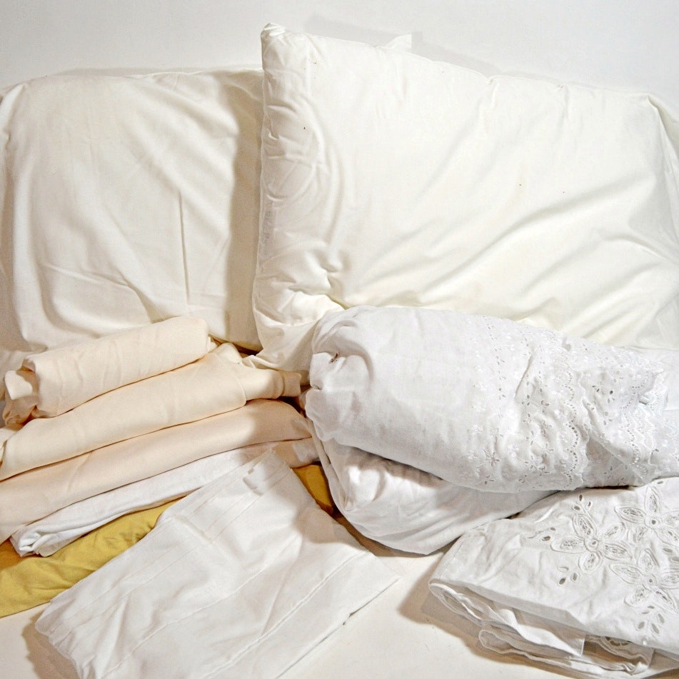 Bed Linens in White and Cream
