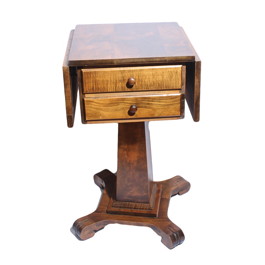 Empire style drop leaf pedestal side table ebth for Table 52 2016