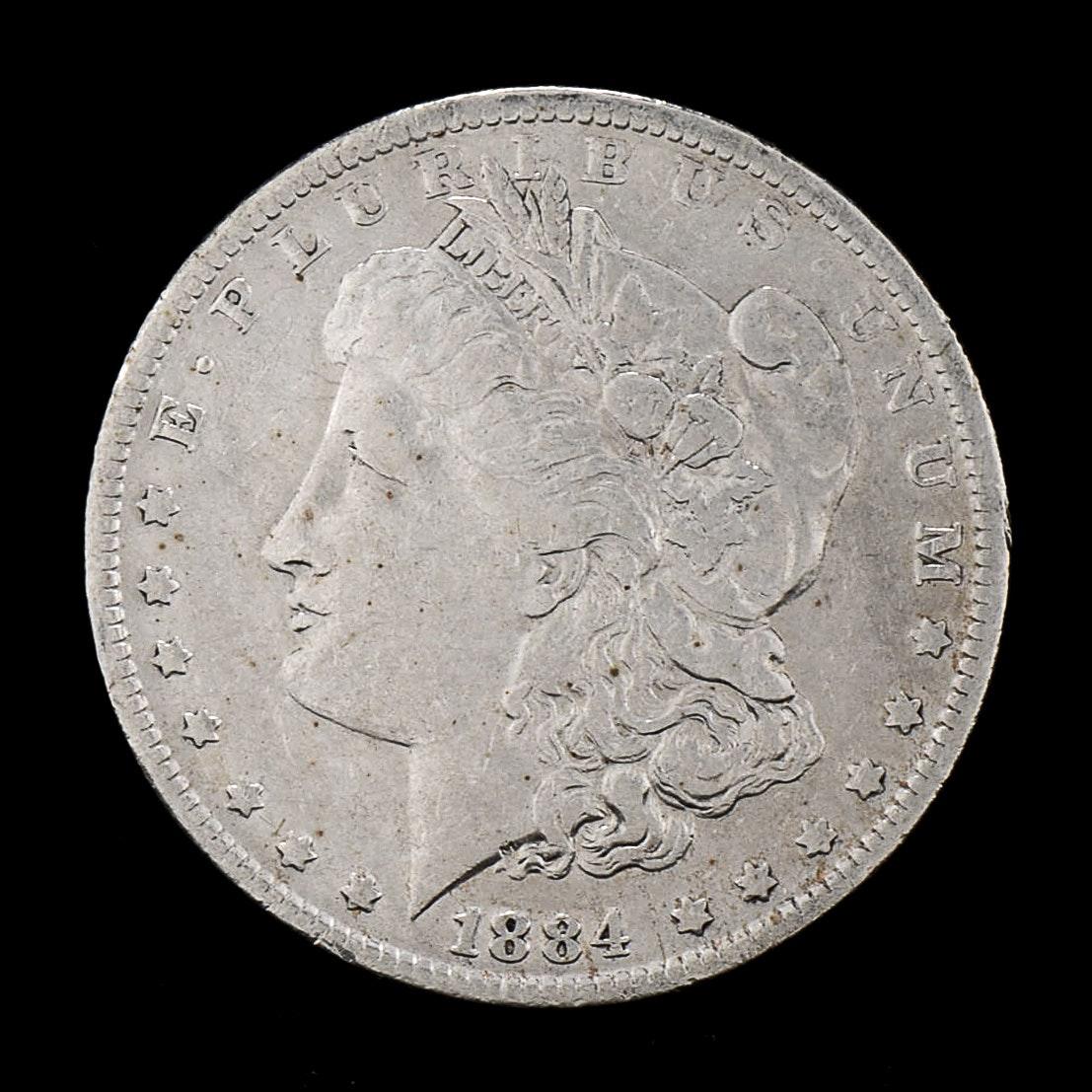 1884 O Silver Morgan Dollar