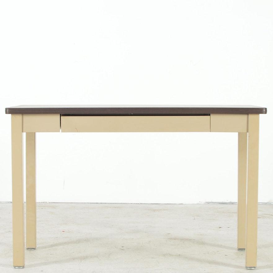 Hon Tan Metal Computer Desk