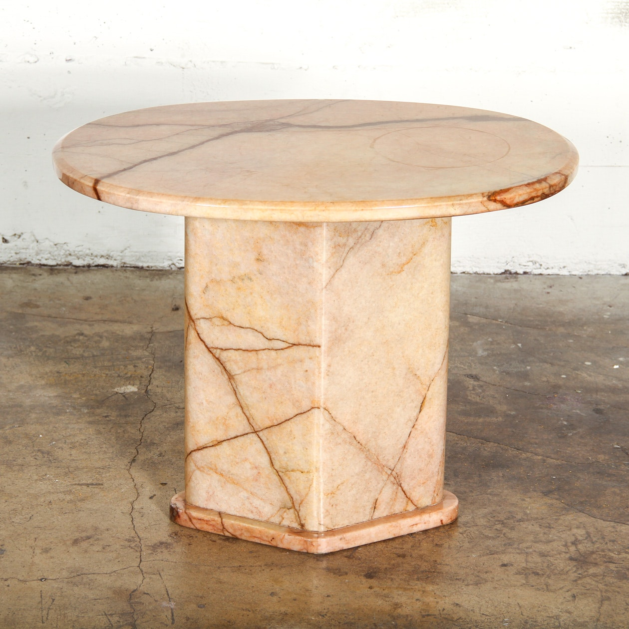 Solid Marble Side Table