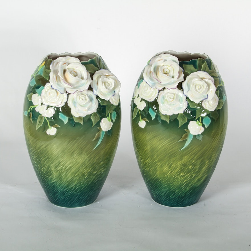 Pair Of Franz Porcelain Vases Inspired By Van Gogh Ebth