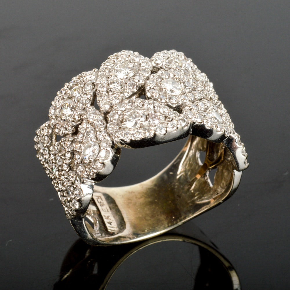 14K Solid Gold 1.89 CTW Diamond EFFY Ring