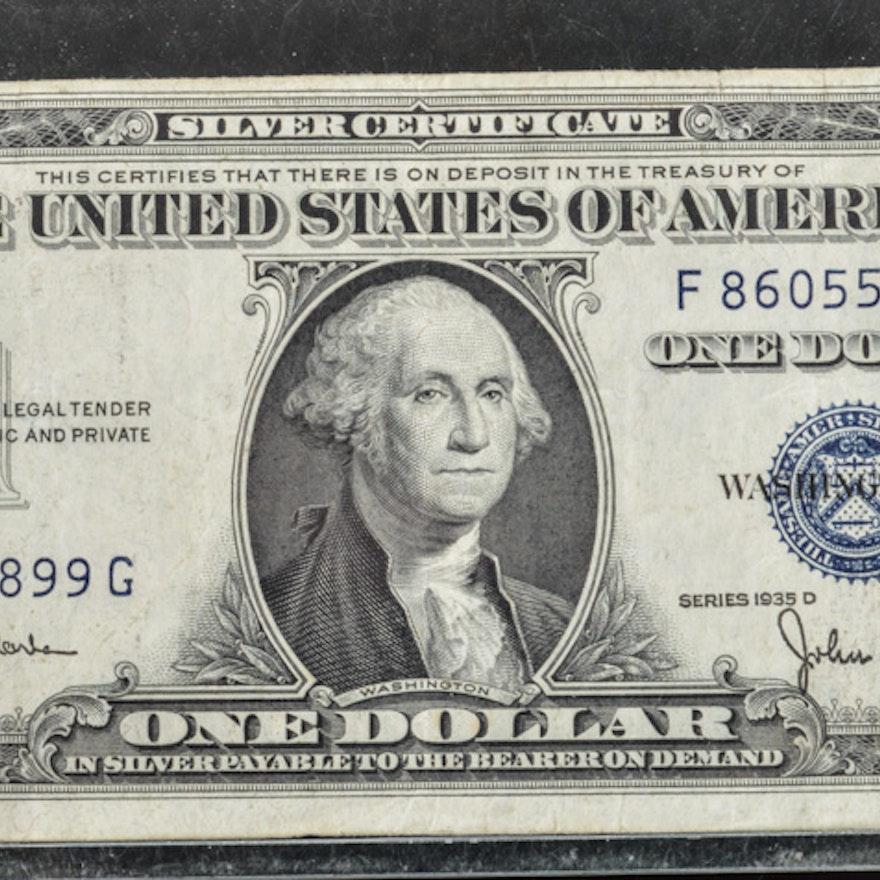 Series 1935-D One Dollar Silver Certificate : EBTH