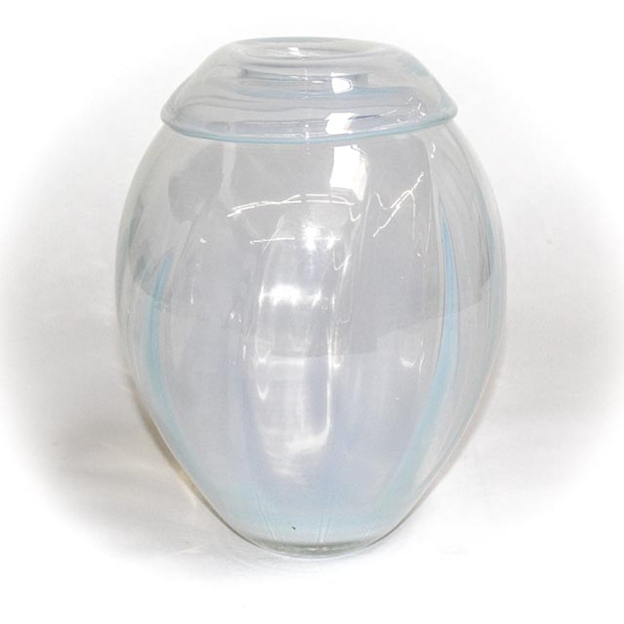 Evolution By Waterford Vase Optic Opal Ebth