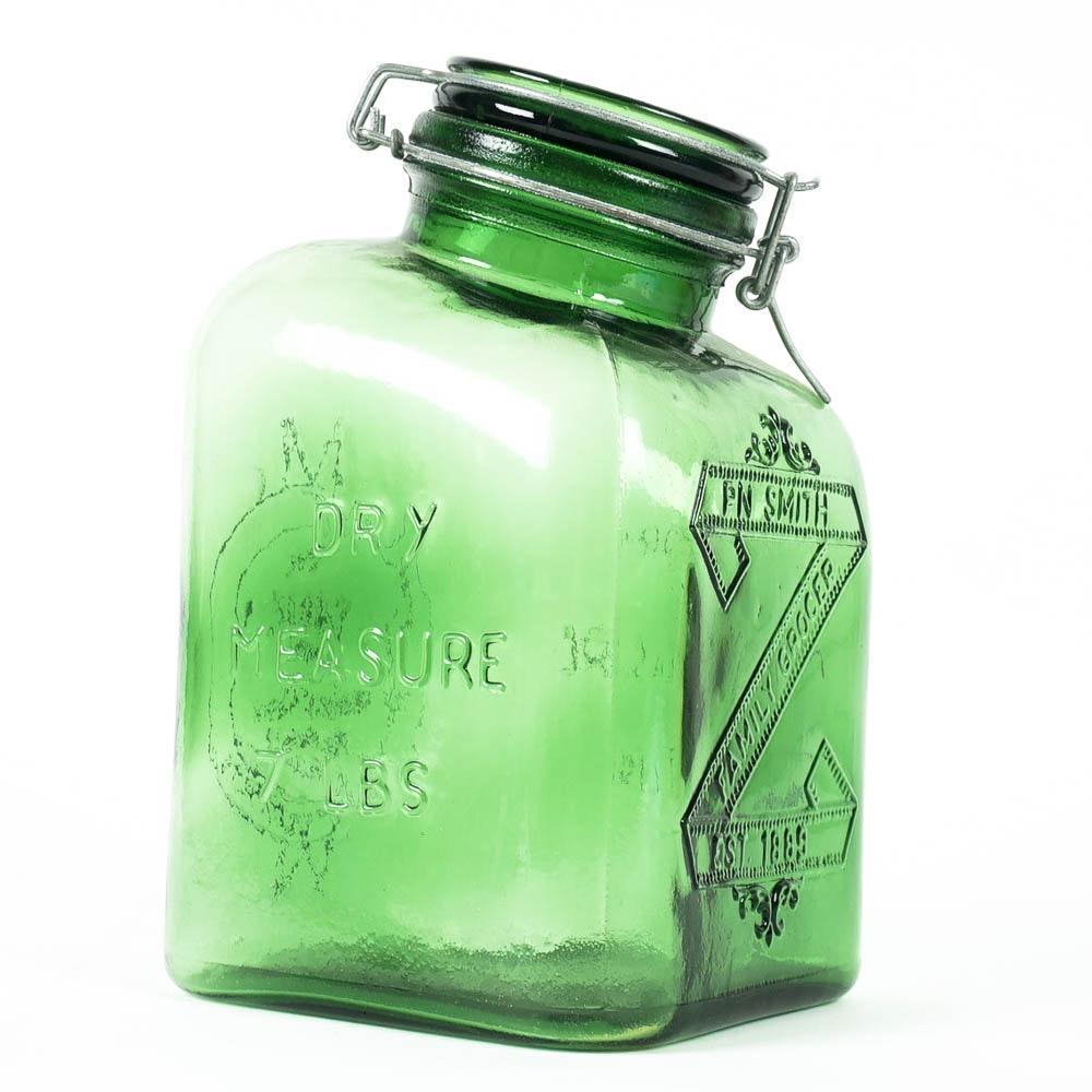 Crownford Giftware Green Glass Storage Jar ...