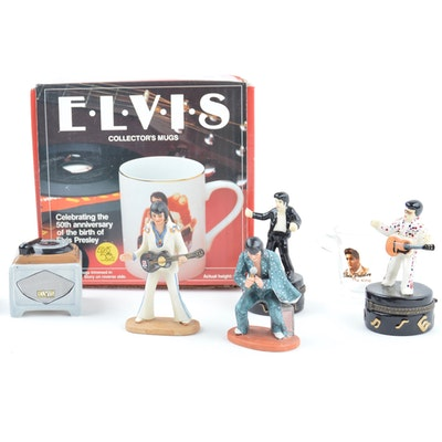 Elvis Collector Mugs and Collectible Decor