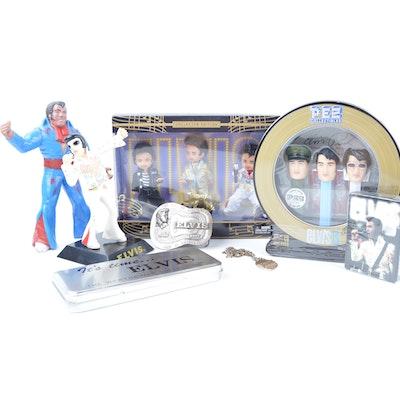 Vintage Elvis Presley Collectible Memorabilia including Pez