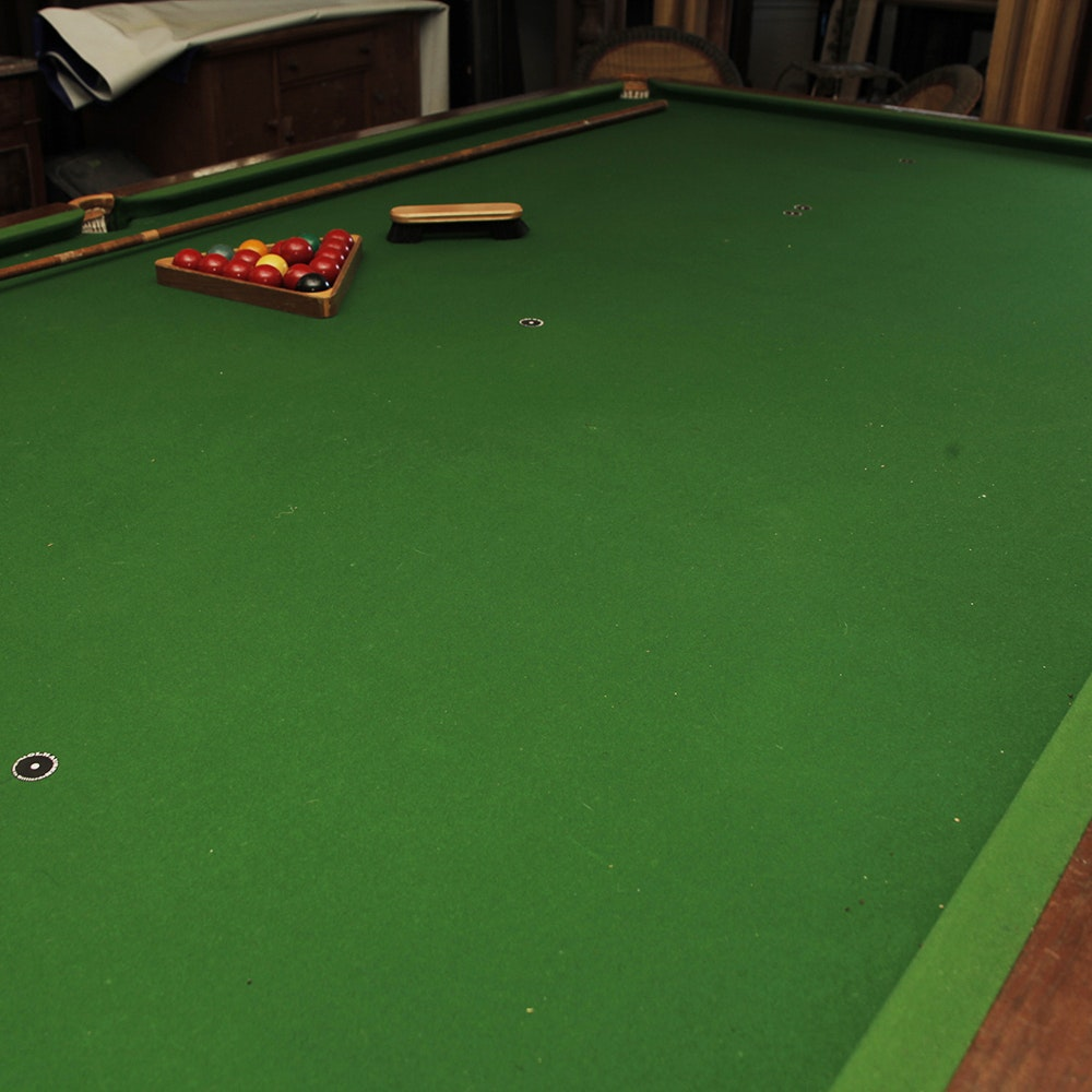 Full size slate snooker table by orme sons ebth for 1 4 size snooker table