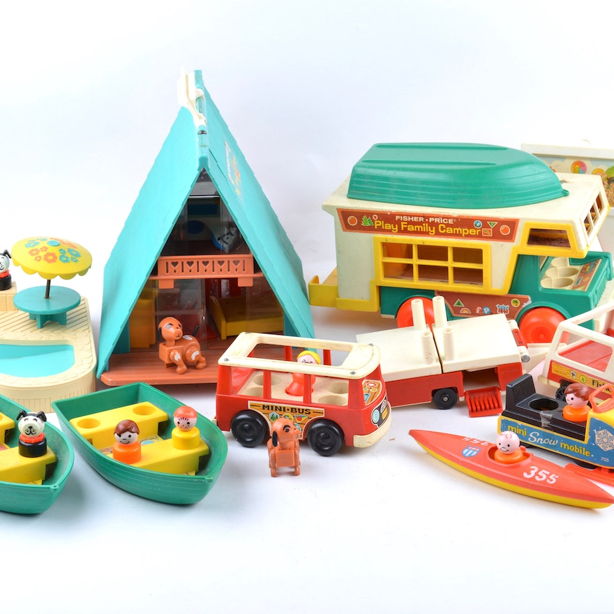 Pricing People: 1970s Fisher Price Little People Play Family A- Frame