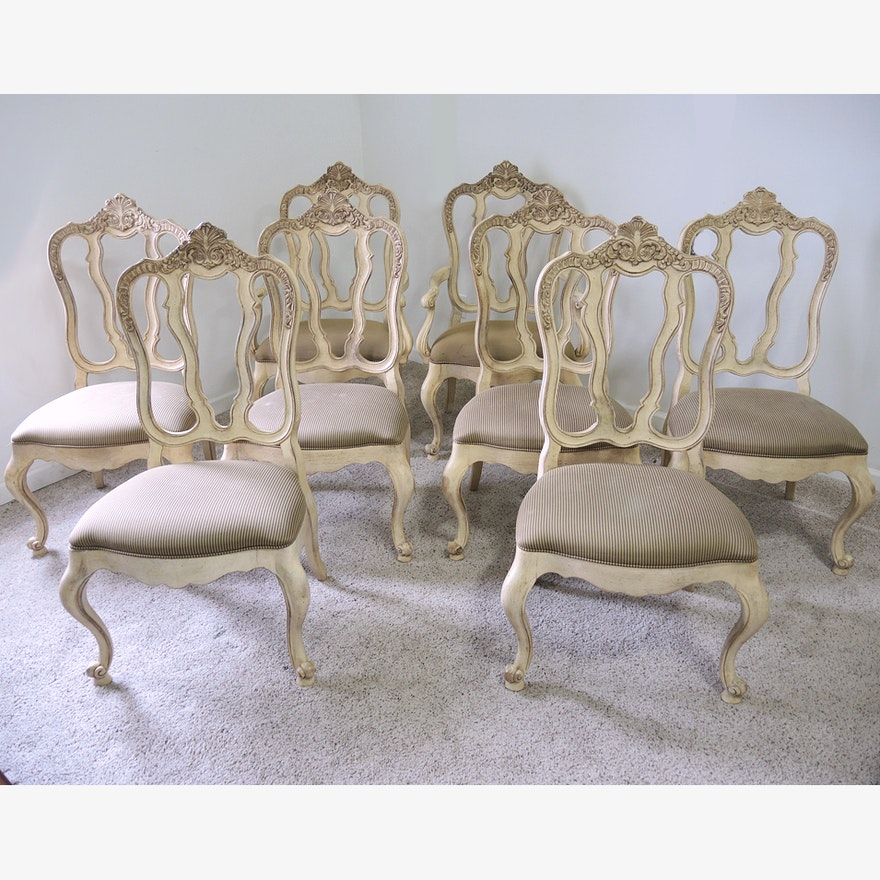 Set Of French Provincial Dining Chairs By Century Furniture