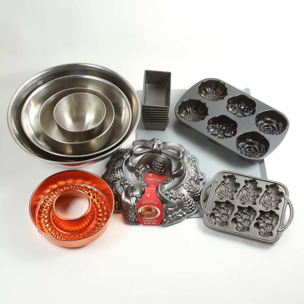 Assortment of Bakeware and Mixing Bowls