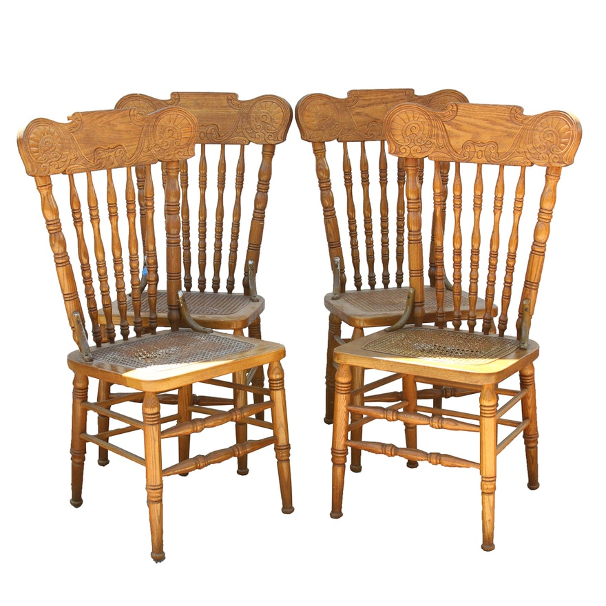 Set Of Early American Style Kitchen Chairs
