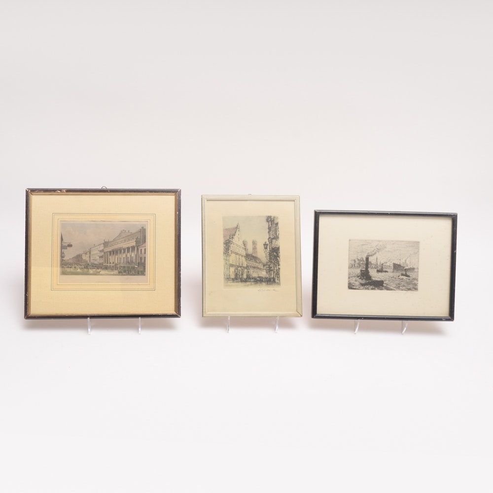 Collection of Three Vintage Prints