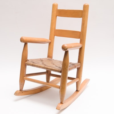 Childs Shaker Style Rocking Chair with Binder Cane Seat