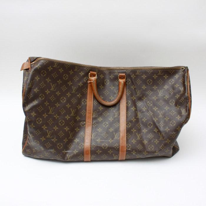 Vintage Louis Vuitton French Company Monogram Keepall Bag