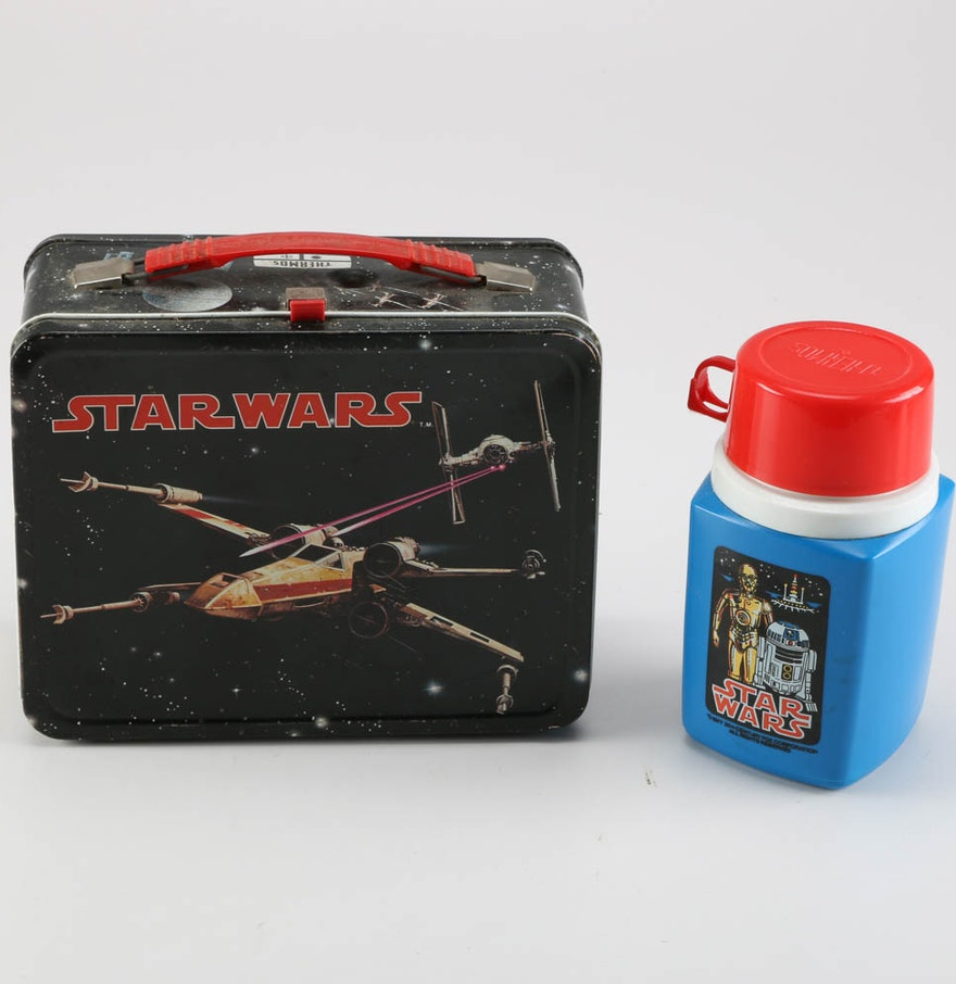 1977 Star Wars X Wing Fighter In Box: 1977 Star Wars X-Wing Fighter Lunch Box And Thermos : EBTH