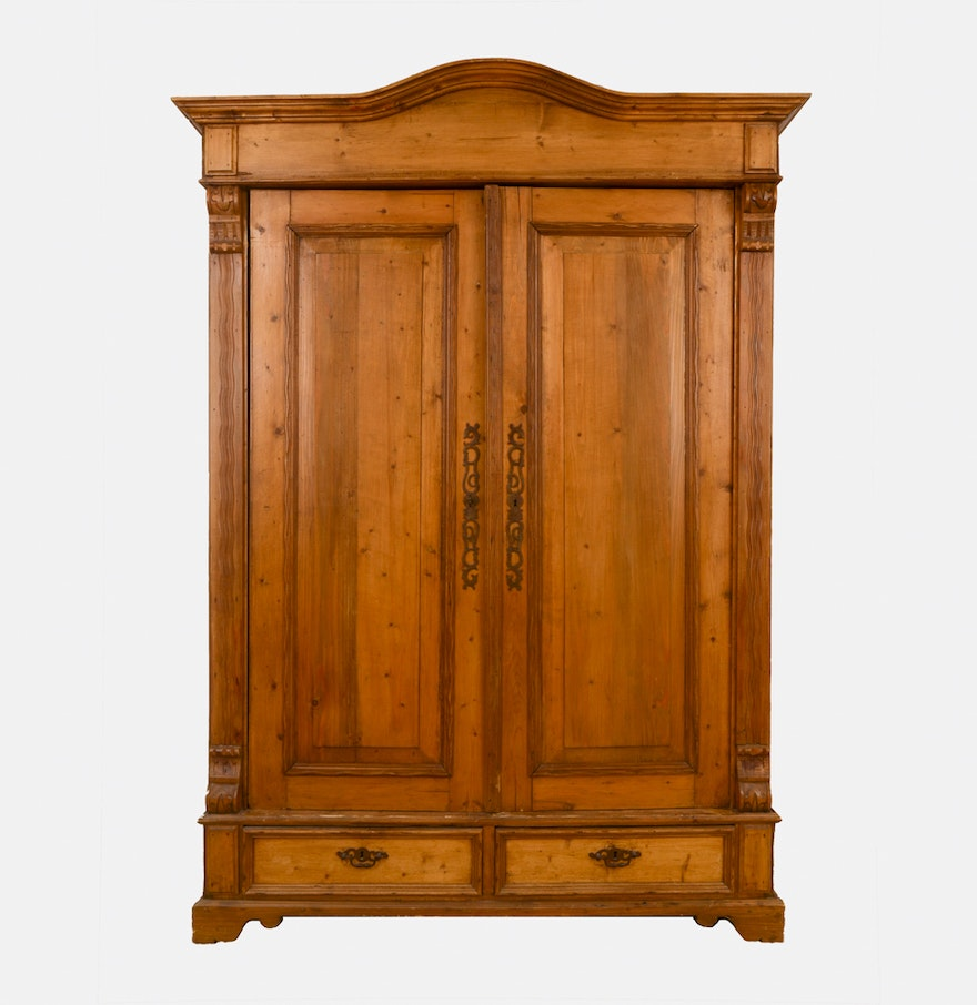 Pine hardwood entertainment armoire ebth for Entertainment armoire