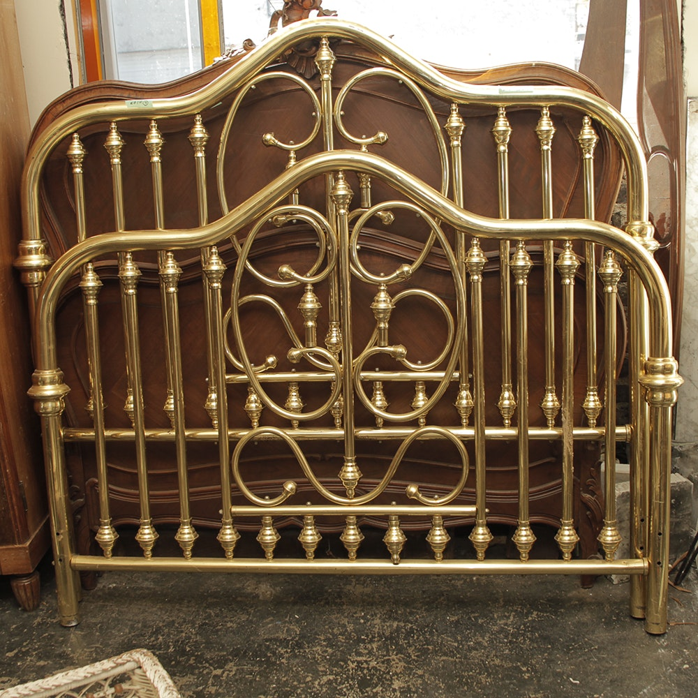 Queen Size Vintage Brass Bed Frame Ebth
