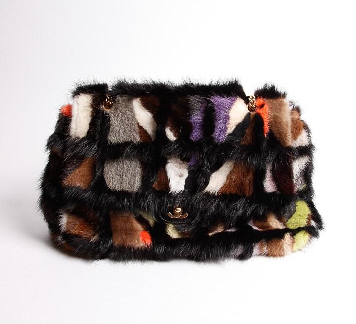 Chanel Arm Candy Multicolored Mink Handbag