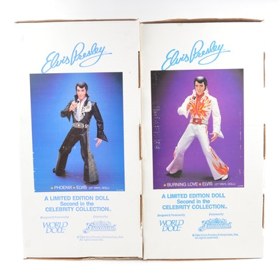 Two Mid-1980s Large Elvis Presley Limited Edition Dolls
