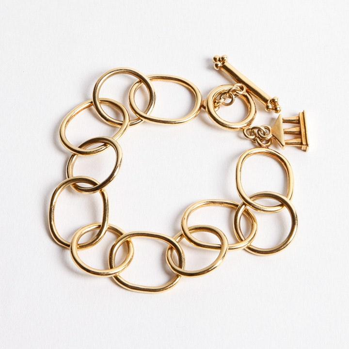 22K Gold Temple St. Clair Charm Bracelet