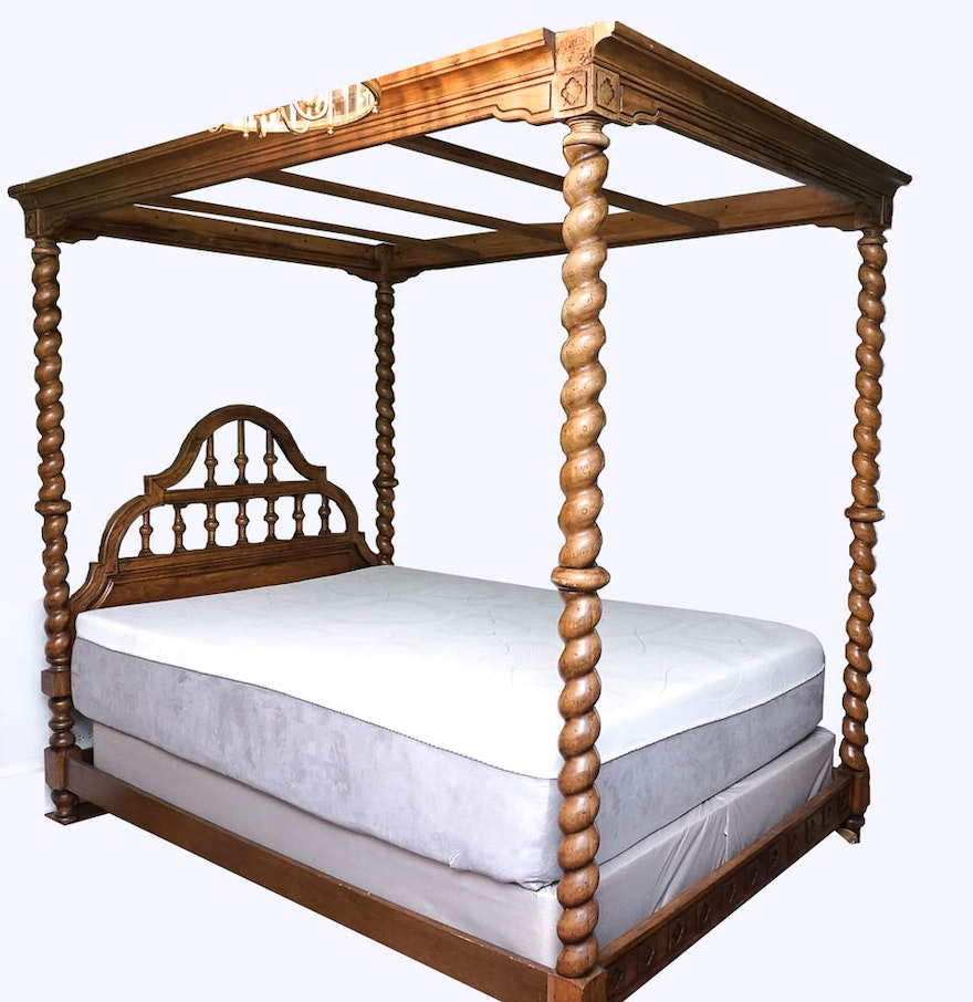 Queen Canopy Bed Frame Ebth