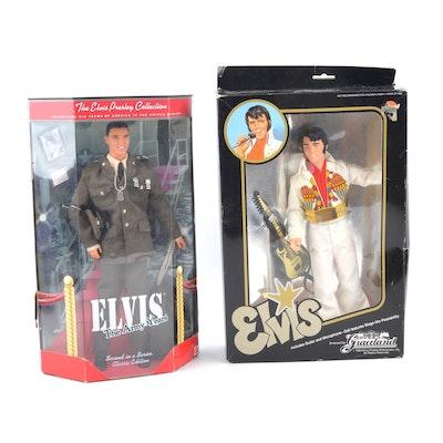 Two Elvis Presley Dolls in Original Packaging