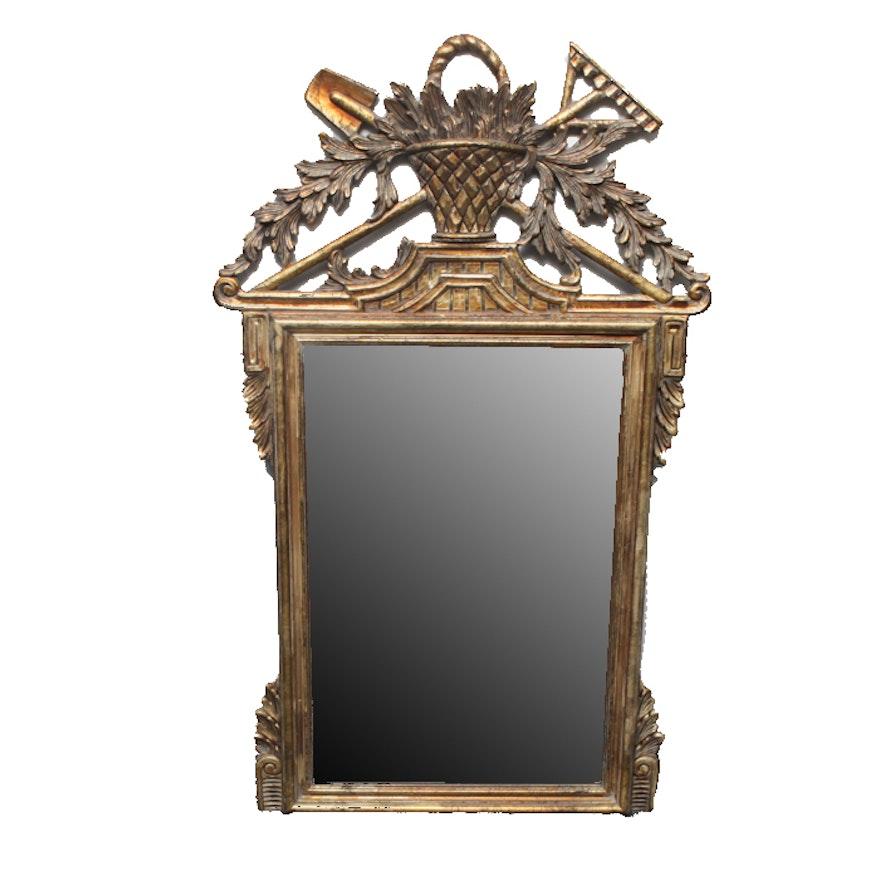 ef785247a25 Ornate Gold Tone Beveled Framed Wall Mirror   EBTH