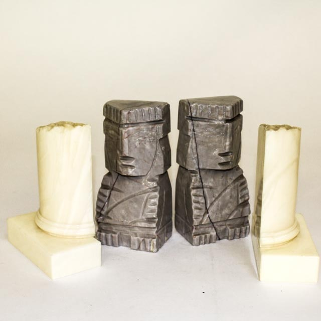 Two Pairs of Vintage Marble Bookends