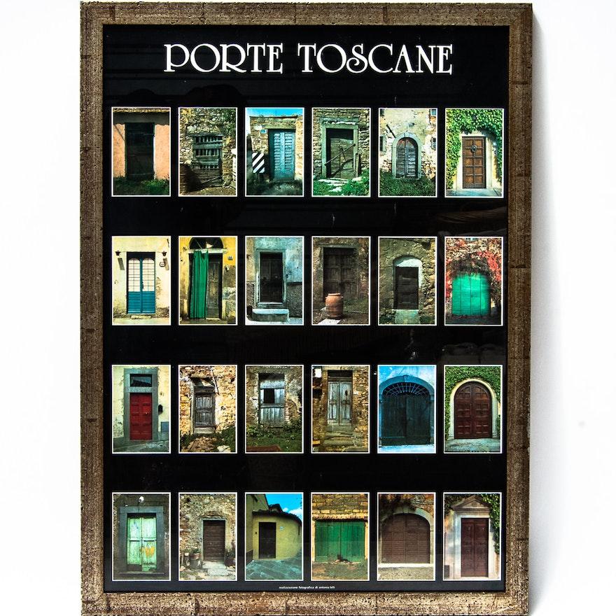 Framed Porte Toscane Poster EBTH - Poster porte