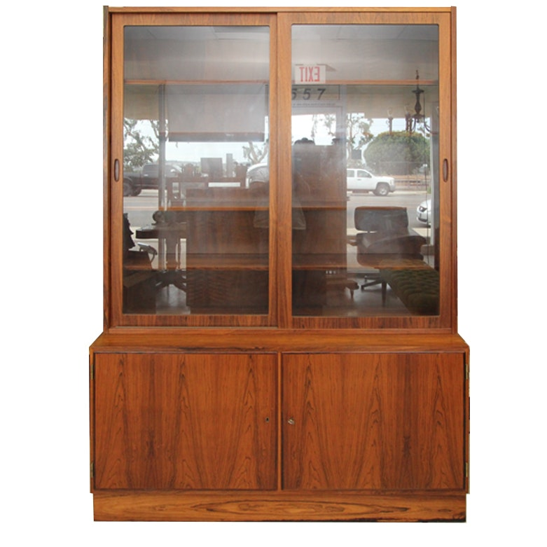 Rosewood China Cabinet with Hutch