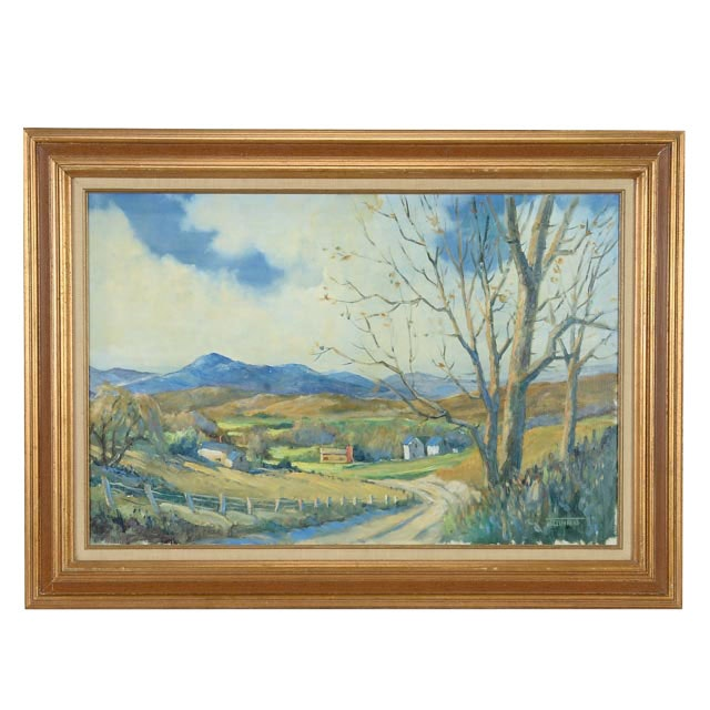 J. Quinn Original Oil Landscape Painting
