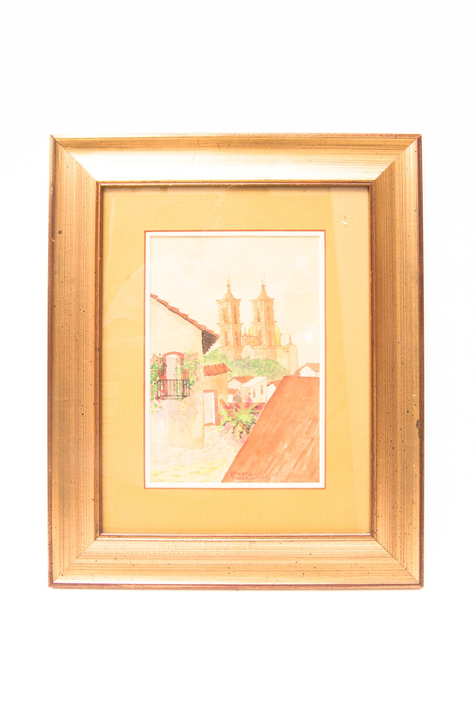 Original Signed Watercolor by V. Flores