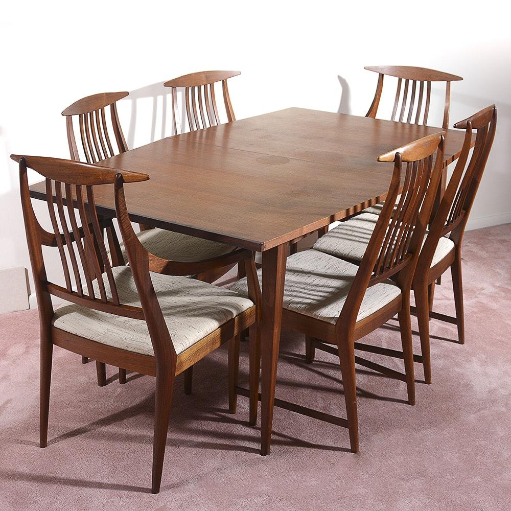 Mid Century Modern Teak Dining Table Set