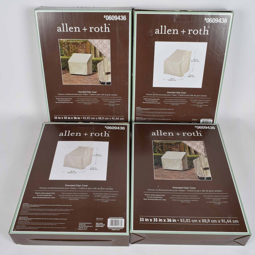 Marvelous Allen Roth Oversized Outdoor Chair Covers Set Of Four Lamtechconsult Wood Chair Design Ideas Lamtechconsultcom