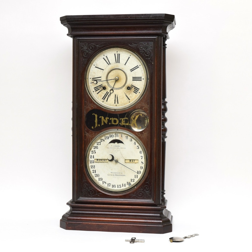 Antique Index Calendar Clock