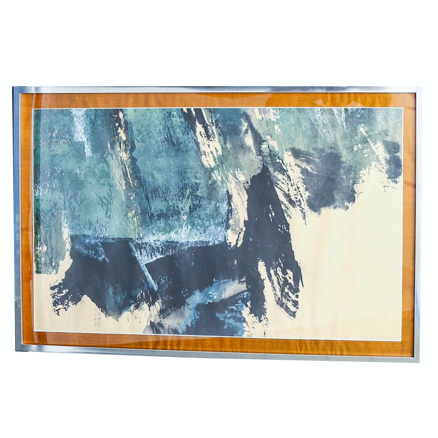 "Fong Chung Ray ""1971-44"" Signed Chinese Ink and Acrylic Original Painting"