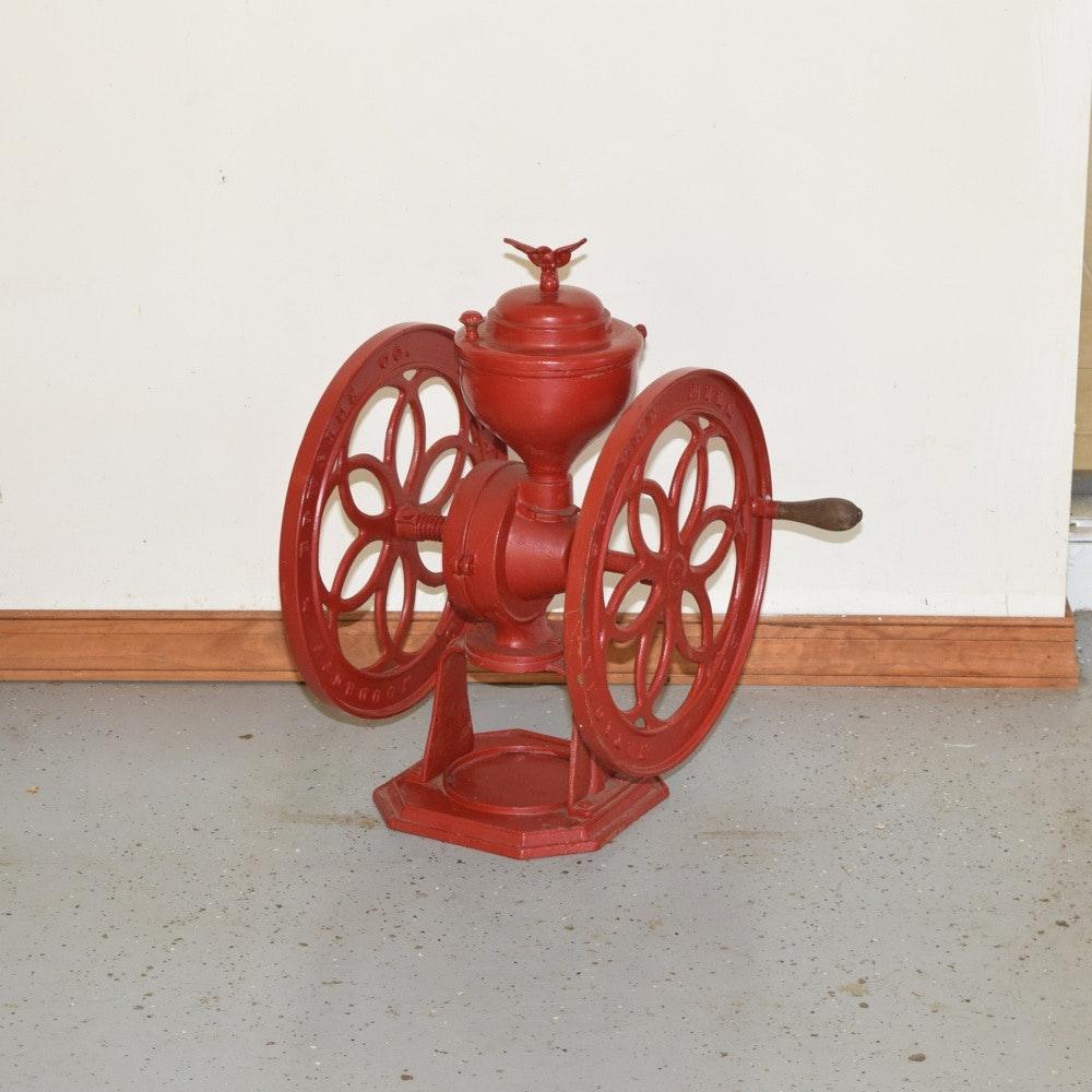 Antique Elgin National Cast Iron Coffee Grinder